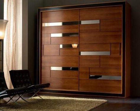 дизайн интерьера с современной двери шкафа