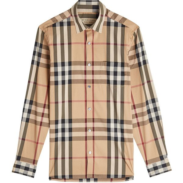 Burberry Printed Shirt (20.490 RUB) ❤ liked on Polyvore featuring men's fashion, men's clothing, men's shirts, men's casual shirts, multicolored, mens multi colored striped shirt, mens checkered shirts, mens multi coloured shirts and mens checked shirts