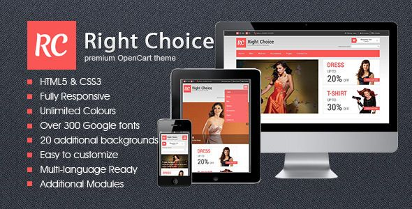 Right Choice - Responsive HTML5 OpenCart theme - Shopping OpenCart