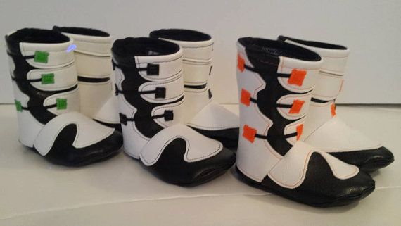 Motocross Baby Boots 0-6 Months by bellalise on Etsy
