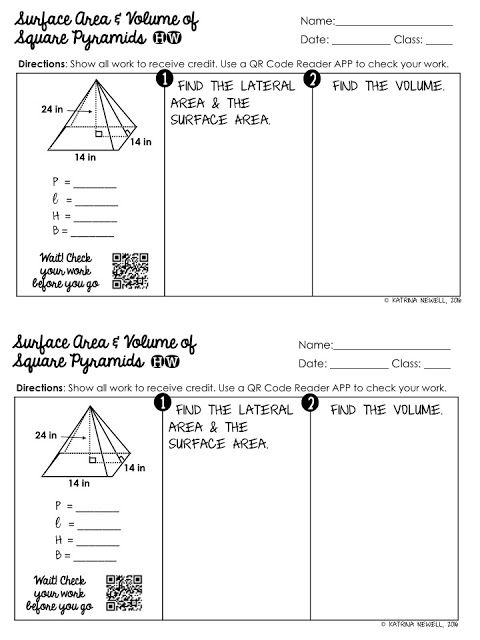 Surface Area And Volume Of Pyramids Unit Education Math Special Education Worksheets Special Education Math