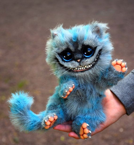 Baby Cheshire Cat by GakmanCreatures on Etsy