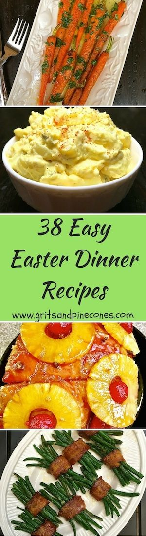 38 Easy Easter Dinner Recipes will make it easy for you to plan and prepare an unforgettable Easter meal that will wow your family and guests.  via @http://www.pinterest.com/gritspinecones/