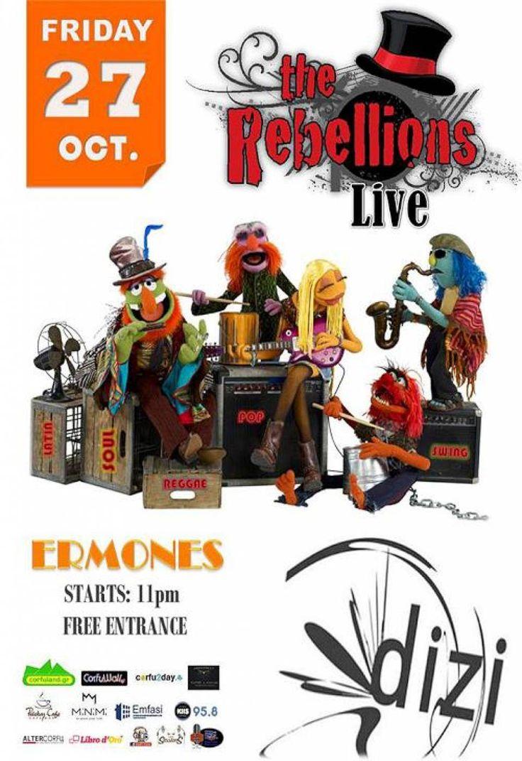 The Rebellions LIVE στο DIZI BAR - 27/10/2017, Κέρκυρα