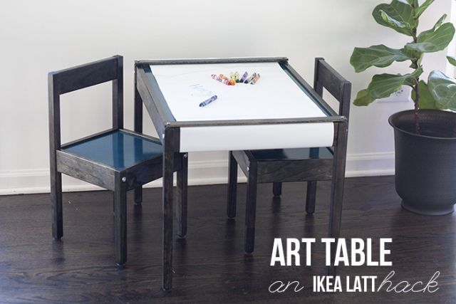 Art Table-IKEA LATT hack | youresomartha.com