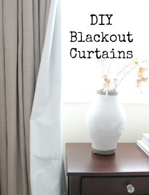 how to make curtains with blackout lining