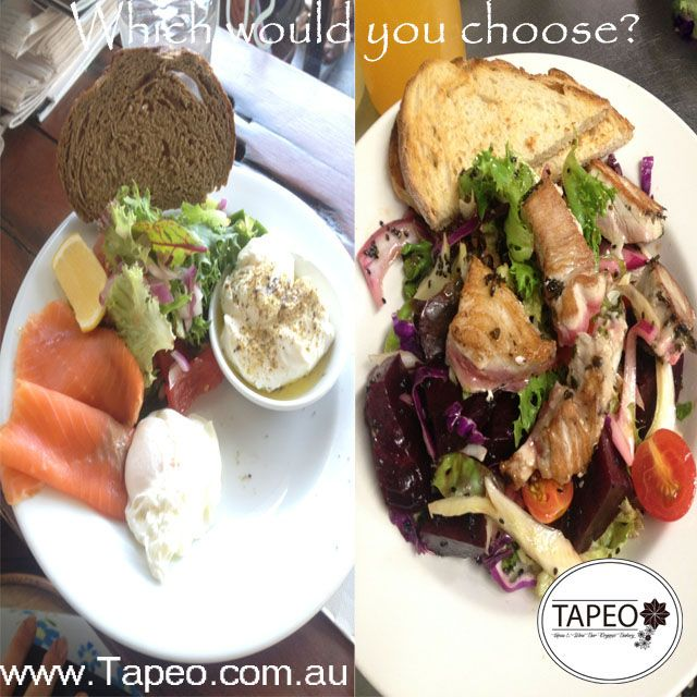 How do you like your #freshfish? Pick one: #smokedsalmon with #poachedeggs greens #labne & #rye or #panseared #freshtuna #beetroot #salad with #sourdough. Let us know your choice in the comments below. Tapeo: 82 Redfern St, Redfern NSW. Check us out at http://www.Tapeo.com.au & follow us on FB http://FB.com.tapeo.au #tapeo #tapeocafe #tapeoredfern #redfern #sydneycafe #sydney #cafe #restaurant
