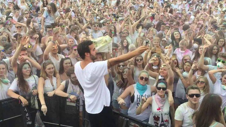 Holi Festival of Colours München 2016 - DJ Honka - Blick von der Bühne