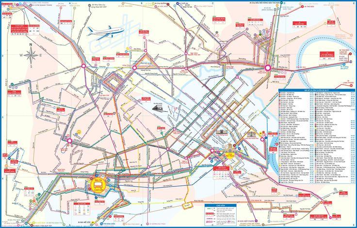 Ho Chi Minh Bus Map - Ho Chi Minh • mappery