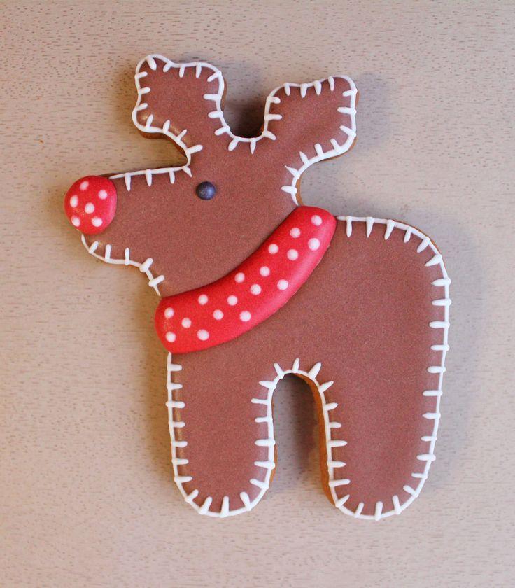 Новый год Рождество Пряник имбирный олень
