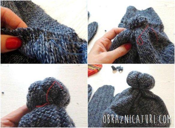 Refolosim tricotajele: caciula, manusi si sosete colorate   Obraznicaturi