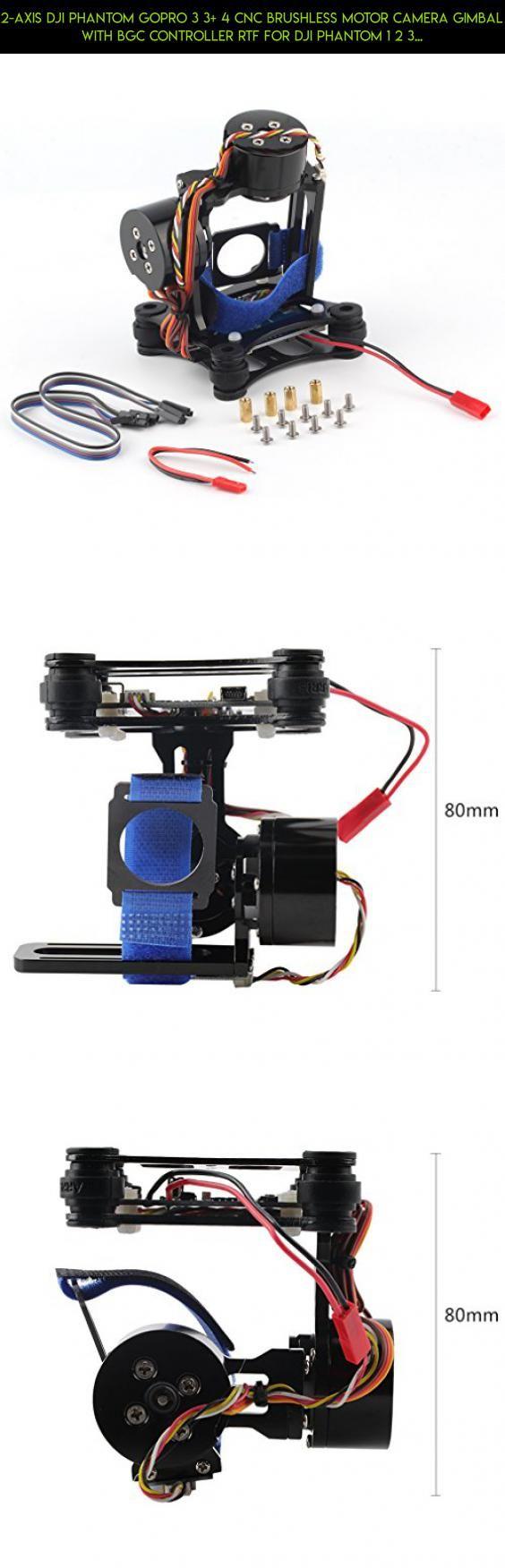 2-Axis DJI Phantom Gopro 3 3+ 4 CNC Brushless Motor Camera Gimbal with BGC Controller RTF for DJI Phantom 1 2 3 GoPro Hero3+ Hero3 FPV - Black #products #tech #camera #phantom #plans #standard #dji #gimbal #technology #kit #gadgets #shopping #racing #drone #parts #3 #fpv #motor