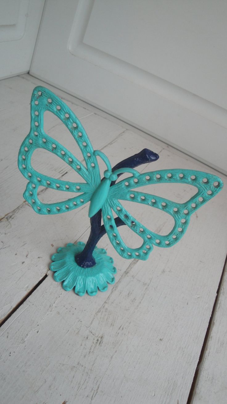Vintage Butterfly Enamel Earring Holder Libby