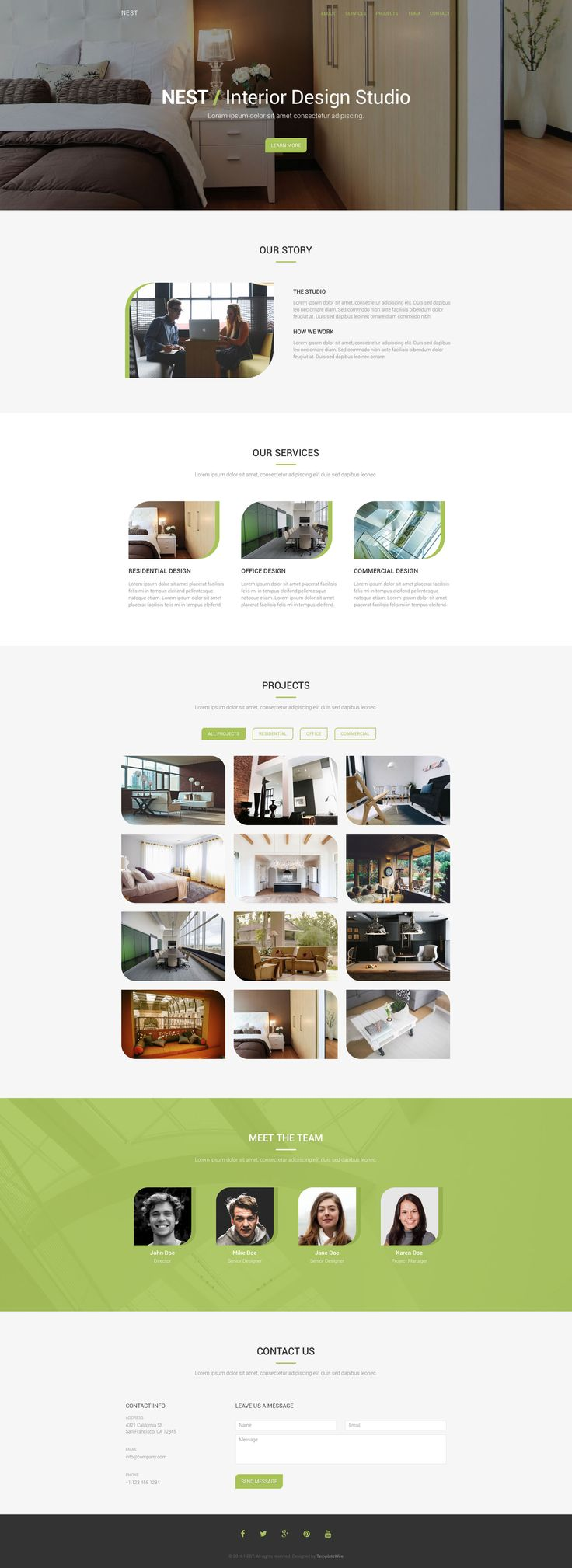 Nest Free responsive HTML5 Bootstrap Landing page template