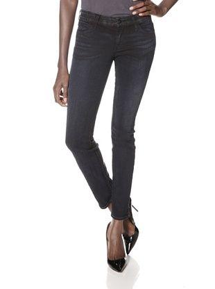 60% OFF Koral Denim Women's Colorblock Skinny Jean (Black)