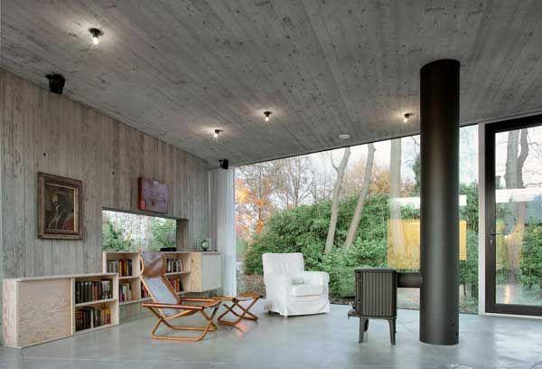 Multifaceted Concrete House in Belgium