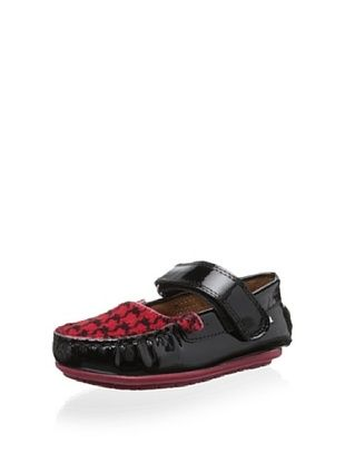 52% OFF Venettini Kid's Juniper (Black Patent/Red Zig Pony)