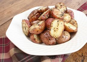 Sbarro's potatoes! Boil them while you mix together paprika, garlic salt, onion powder, oregano. When the potatoes are soft,place them in a bowl and coat them with olive oil or butter depending on the store, then you mix in the spices, place them on a flat sheet and put them in an oven preheated to 450 for 15-20 minutes or until a golden brown color on the outside.