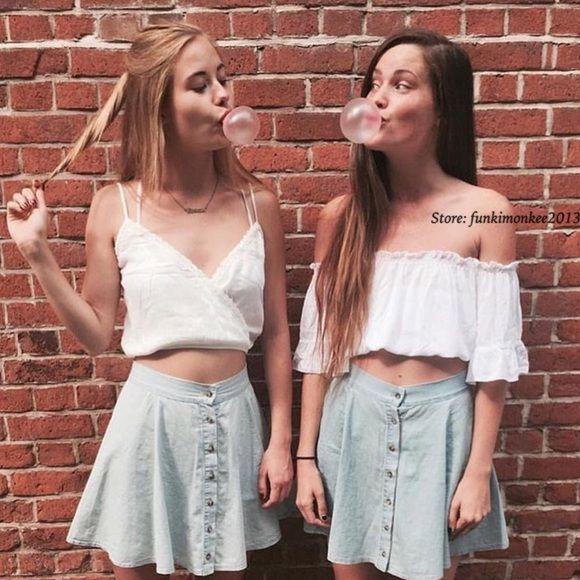 Brandy Melville blue denim kaylen skirt Nwt Brandy Melville Skirts