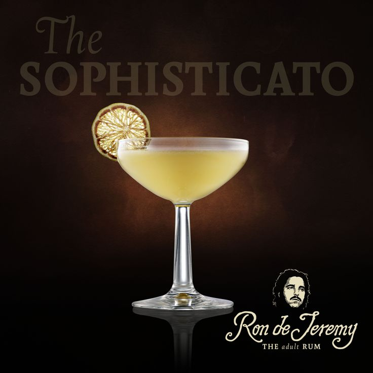 THE SOPHISTICATO by Jason Williams  45ml Ron de Jeremy Reserva 10ml Basil infused banana liqueur 30ml Lime juice 1 barspoon of DOM Benedictine  Shake and fine strain. Garnish with a dehydrated lime wheel.