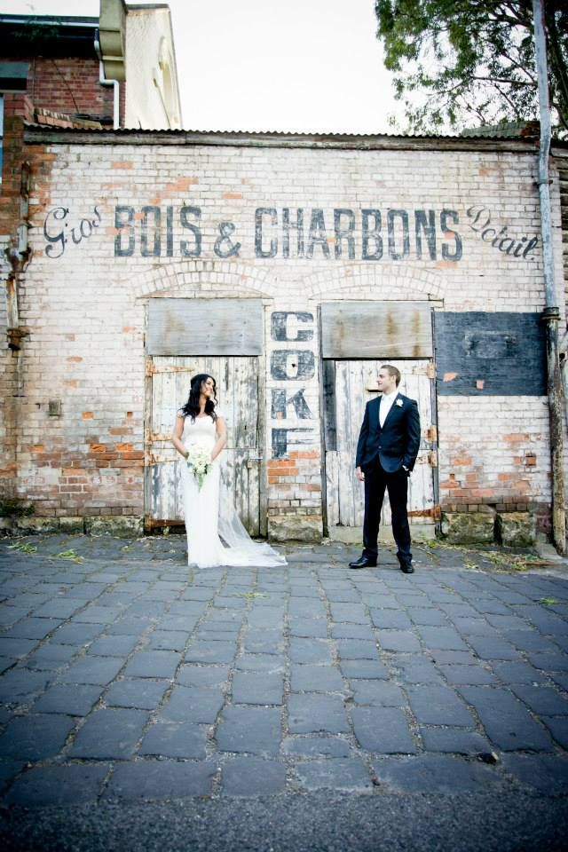 Natalie at the Abbotsford Convent looking amazing in her customized Gwendolynne Simone Wedding Dress