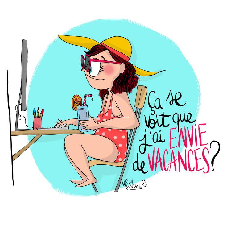Crayon d'humeur by Mathou : Ah oui en effet !Il faut prendre des VACANCES !