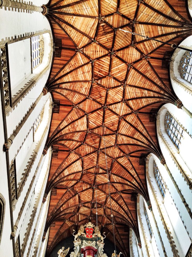 St Bavo church ceiling in Haarlem, love the structure
