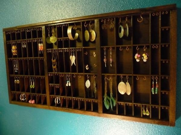 Vintage Printing Drawer Jewelry Holder van Holmac op Etsy