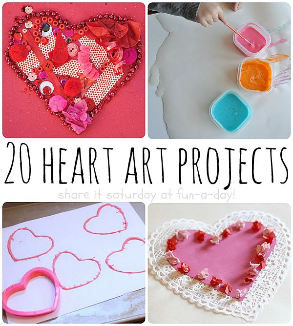 heart art for kids 20 valentines day art projects - Valentines Day Activities For Kids