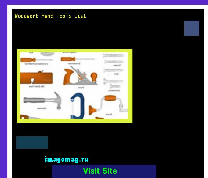 Woodwork Hand Tools List 174221 - The Best Image Search