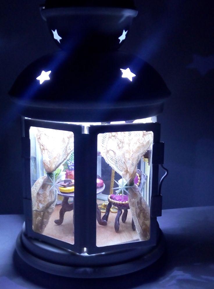 Miniature in a lantern
