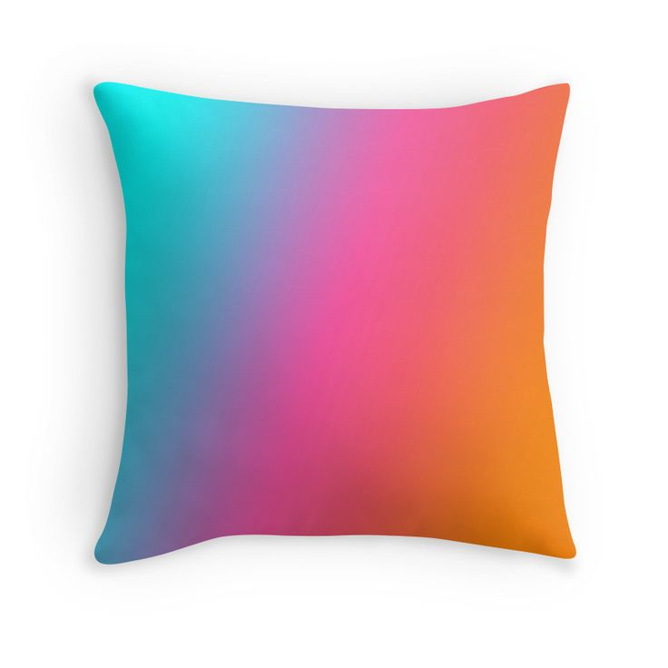 Beautiful Cushions/The Block Collection/TripleThreat Gradient Blue Pink Orange
