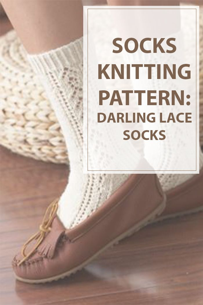 You can not say no to this Darling Lace Socks pattern. That includes a pleasant very little lace pattern up the calf of the sock, youll love knitting and carrying these socks. You'll knit these socks into nearly any style of outfit, from elegant to girly. | www.Housewiveshobbies.com |