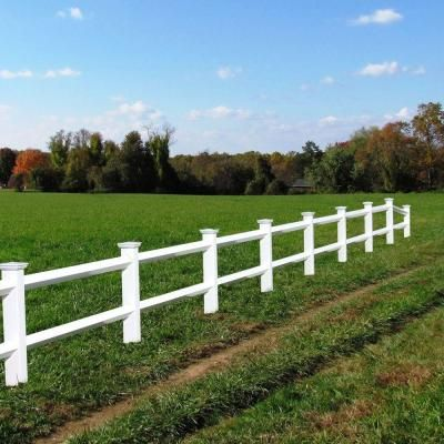 2rail diamond 3 ft x 8 ft white vinyl fence panel with 2 rails