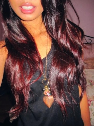 Dark Red Ombre Hair...the most subtle ombre, i prefer it over the brown and blonde ombre or red and blonde