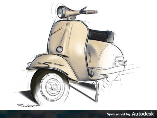 Nice vespa sketch
