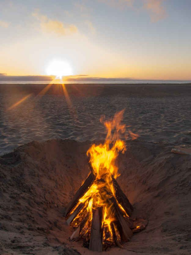 You can set up a beach bonfire at Ocean Beach Sf  Definitely on my to do list