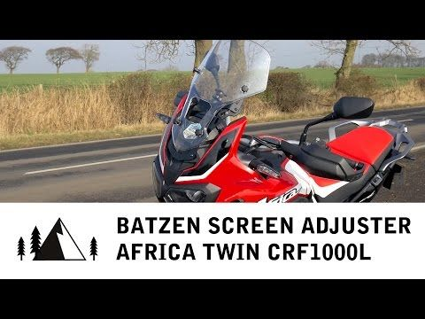 (76) Honda Africa Twin CRF1000L - Batzen Screen Adjuster fitting and review - YouTube