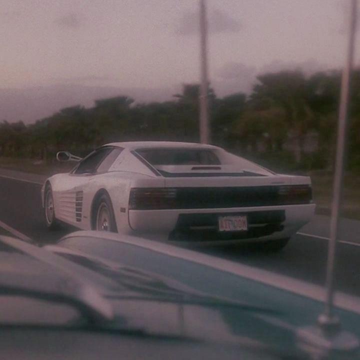 Sunset Ferrari Testarossa Ferraritestarossa Miamivice Miami Vice Sonnycrockett Ricardotubbs 80s Street Racing Cars City Vehicles Japanese Sports Cars
