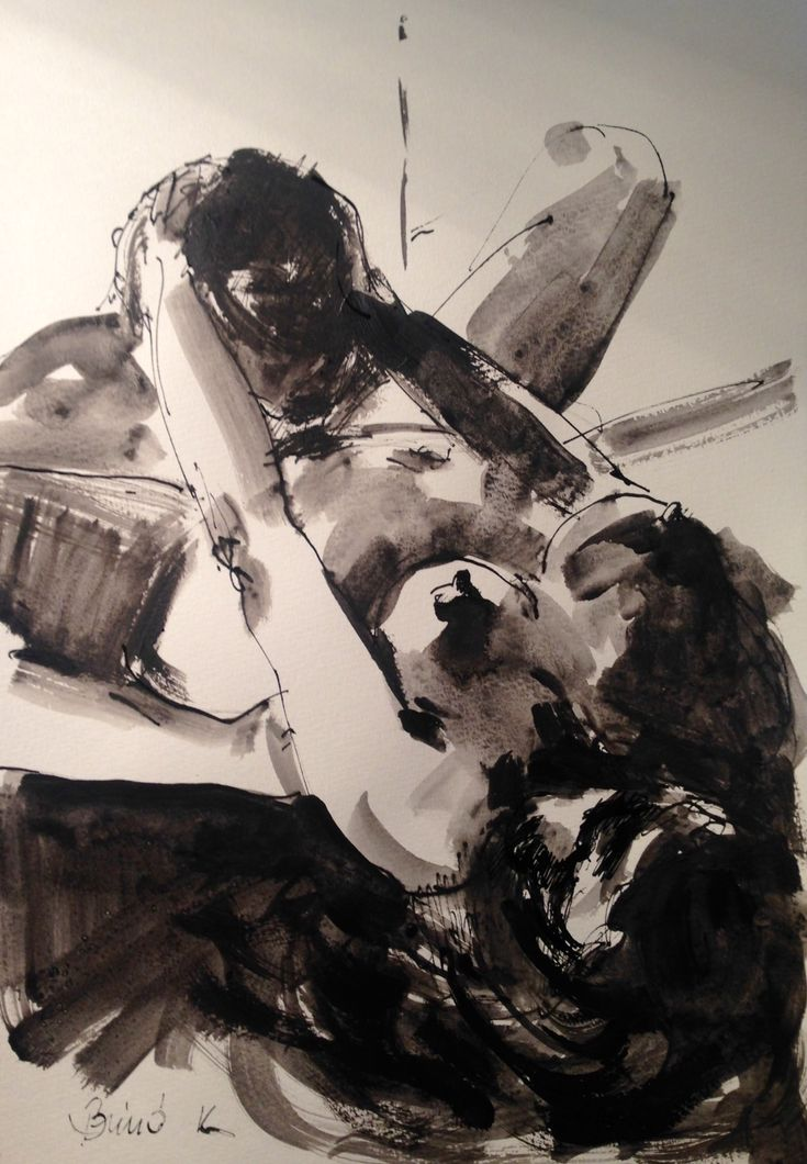fine taste ink painting lover series art by Konrad Biro