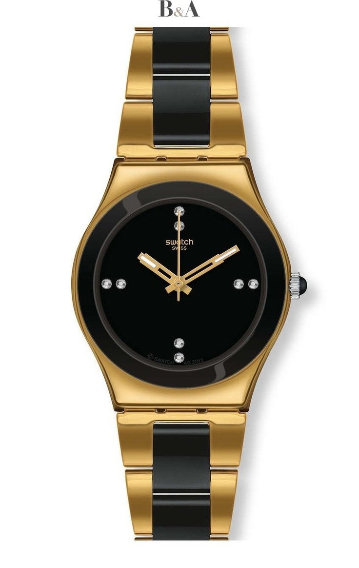 Swatch Irony Medium Yellow Pearl Black YLG124G
