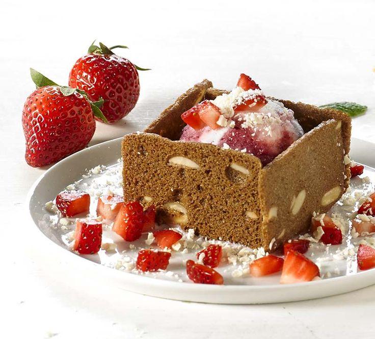 IJsdoosje met aardbeien en witte chocolade