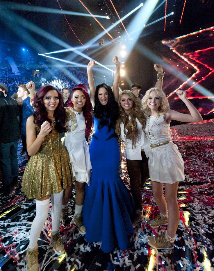 Little Mix winning the X-Factor alongside mentor Tulisa