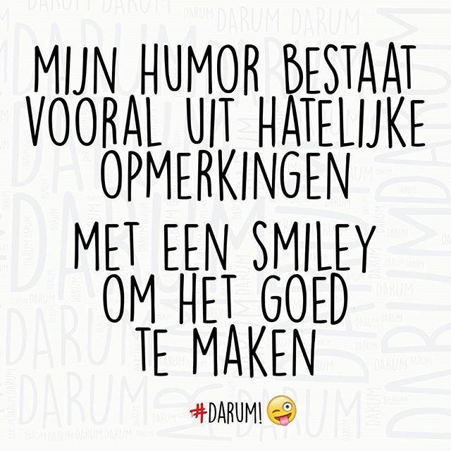 Mijn humor! #darum