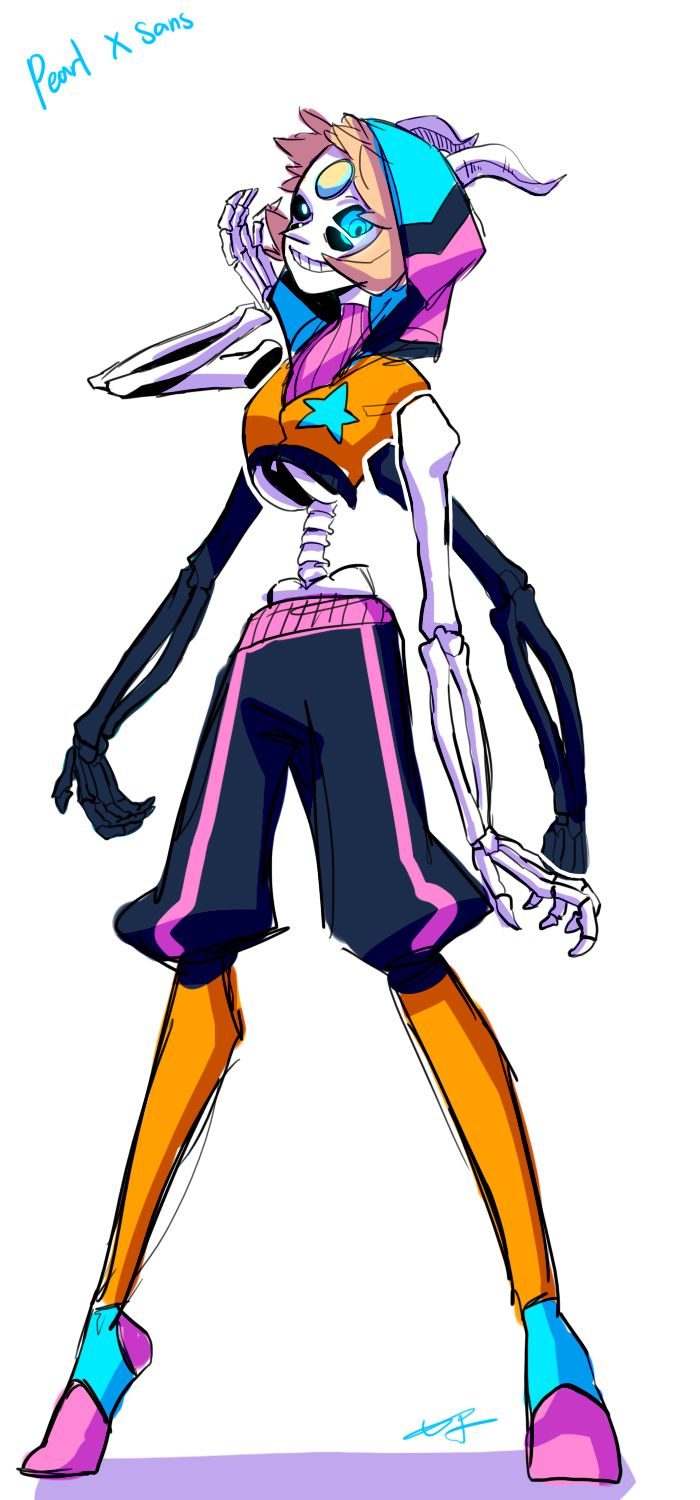 Pearl And Sans Fusion Crossovers Steven Universe