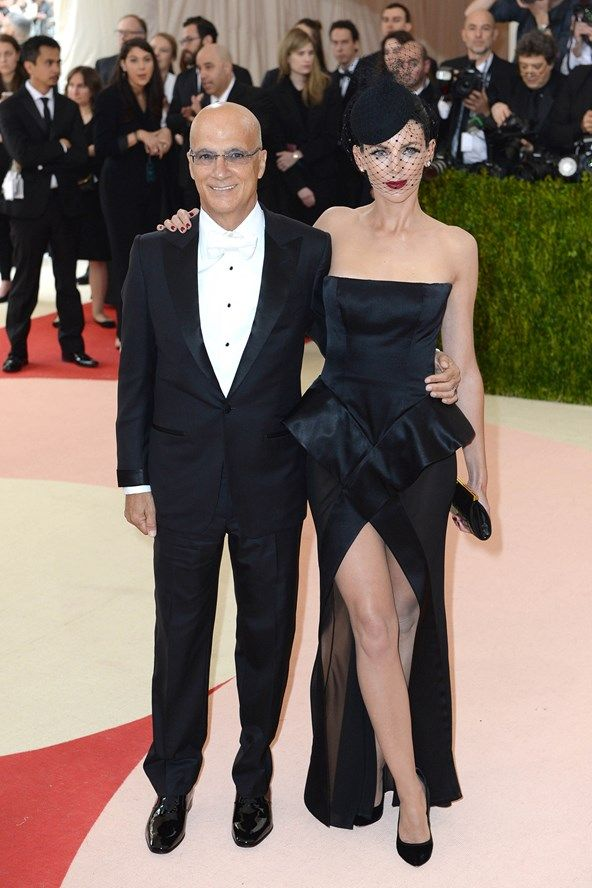 Jimmy Iovine and Liberty Ross wearing a Galliano gown, David Webb jewellry and a headpiece by Stephen Jones.