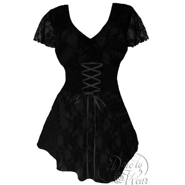 DTW Sweetheart tunika *Black (XL-3XL)