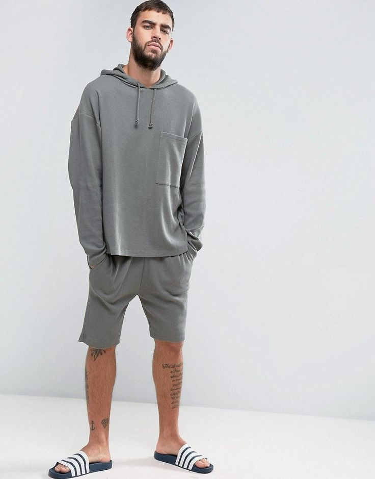 ASOS Skinny Shorts In Waffle - Green