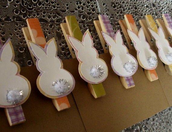 Pregadores de coelho podem ser usados para fechar saquinhos de bala ou de chocolate