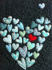 hearts-love the quilting.